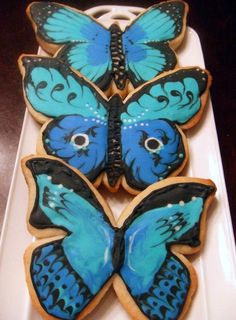Beautiful Butterfly Sugar Cookies