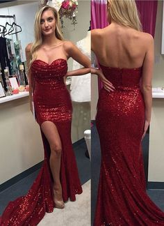 Sweetheart Mermaid Prom Dresses,Long Prom Dresses,Cheap Prom Dresses, Evening…