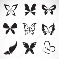tiny black butterfly tattoo - Google Search