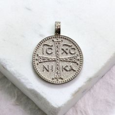 Coins: Ancient Byzantine Silver Coin Fashionable Patterns