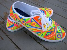 Neon Keds. On the verge of a college neon party accessory, but cute for summer.
