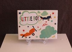 Little Boy AIRPLANE/CLOUD Baby Nursery Decor by crazydaisy12, $10.50