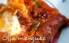 La Ojja aux merguez est une recette tunisienne traditionnelle à base d'œufs, tomate, merguez, piment ou poivrons.   Ingrédients pour Ojja...