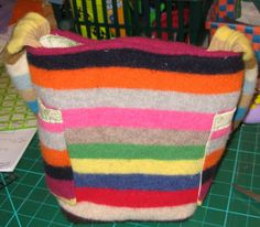 Recycled Sweater Bag Tutorial