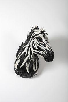 Tire Sculpture - Zebra