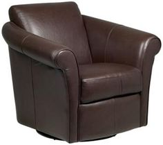 full leather swivel club chair. For the elusive hard-to-find swivel/rocker that doesn't look like dick.