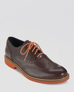 Cole Haan Great Jones Leather Wingtip Oxfords on shopstyle.com