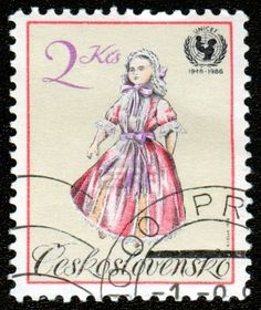 vintage postage stamp from Czechoslovakia
