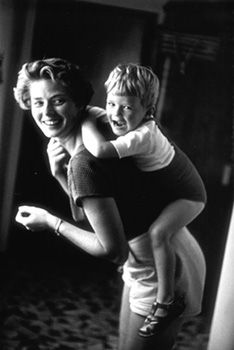 Ingrid Bergman at home with her son, Robertino Rossellini. Santa Marinella, Italy, 1956   ©1996 from the Estate of David Seymour