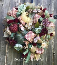 Fall Wreath by Holiday Baubles