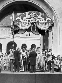 In Early Ferdinand, Prince Of Hohenzollern And His Wife Marie, Princess Of Great Britain And Of Saxony-Coburg Und Gotha, Are Crowned King And Queen Of Romania. Romanian Royal Family, German Royal Family, German Houses, Royal House, Prussia, Ferdinand, Belle Epoque, Great Britain, Vintage Photos
