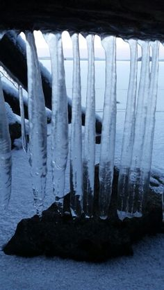 Ice art in nature in Finland