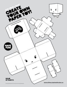 Custom paper toy! #papertoy