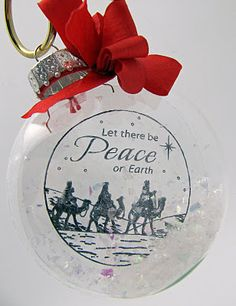 Christmas ornament posted on Explore. Dream. Discover. Stamping and Papercrafting with Barb Schram.