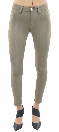 7 for all mankind | high waist knee seam ankle skinny (mocha snake)