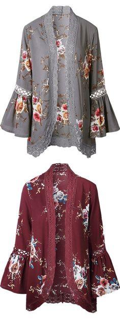 Kimono - Floral Kimono Robe & Kimono Cardigan For Women Fashion Sale Online Fashion Sale, Trendy Fashion, Boho Fashion, Autumn Fashion, Fashion Outfits, Womens Fashion, Bohemian Kimono, Bohemian Mode, Bohemian Style
