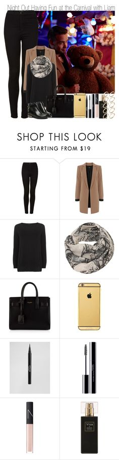 """""""Night Out Having Fun at the Carnival with Liam & Title Tag"""" by elise-22 ❤ liked on Polyvore featuring Veja, Topshop, Oasis, The Row, Mono, Yves Saint Laurent, Goldgenie, Stila, shu uemura and NARS Cosmetics"""