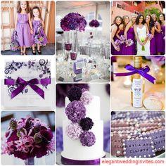 2014 wedding color combinations | Top 5 Color Combination Ideas for Purple Weddings |