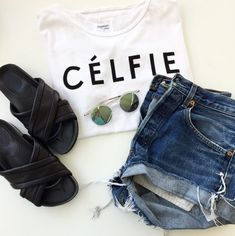 Celfie Tee White http://shopsincerelyjules.com/collections/shop/products/celfie-tee-white