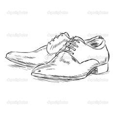 Download - Vector sketch illustration - men's shoes — Stock Illustration #37849575
