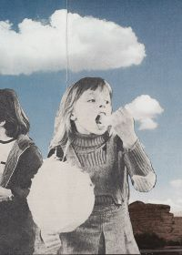 Cloud eaters, Joe Webb #collage I want to be her!!!! <3