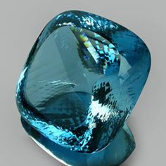 7860cts - Unique Largest Collector's Gem - Natural Neon Swiss Blue Topaz Brazil