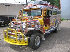 """One of the country's cultural icons: the """"Jeepney"""". A staple in public transportation throughout the country."""