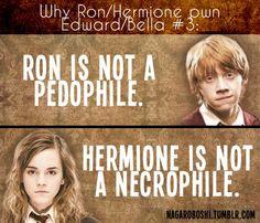 why Ron/Hermione pwn Bella/Edward - harry-potter-vs-twilight Fan Art