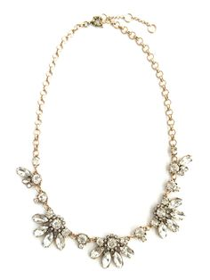 Sparkle crystal statement necklace   wedding bridesmaid jewelry