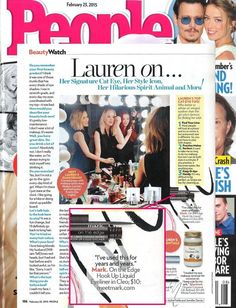 Lauren Conrad shares with People magazine that she's been using the mark. On The Edge Hook Up Liquid Liner for years to create her famous cat eye! http://avon4.me/1zXoony
