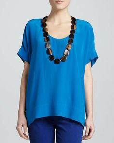 Eileen Fisher Silk Box Top on shopstyle.com