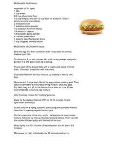 McDonald's McChicken