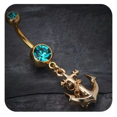 Anchor belly button ring seriously want this so cute!