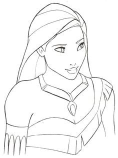 Image result for step by step drawing of pocahontas