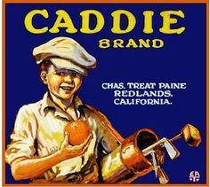 redlands fruit crate | Redlands-San-Bernardino-Golf-Caddie-Orange-Citrus-Fruit-Crate-Label ...