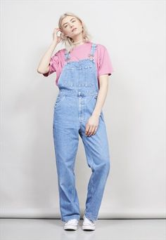 VINTAGE 90'S GAP BLUE JEANS BLUE STRAIGHT LEG DUNGAREES- NORDIC POETRY