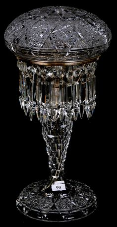 Tuthill Rex pattern boudoir lamp