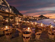 El Farallon in Cabo, Mexico overlooking the ocean