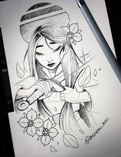 64 Best Ideas Tattoo Disney Mulan Beautiful, - La mejor imagen sobre diy crafts para tu gusto Estás buscando algo y no has podido alcanzar la im - Disney Sketches, Disney Drawings, Disney Fan Art, Disney Princess Art, Disney Concept Art, Art Drawings Sketches, Cute Drawings, Beautiful Drawings, Disney Sleeve