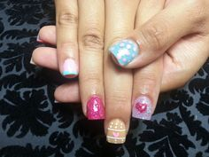 Doc mcstuffin inspired nails