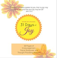 """Are you loving the """"31 Days of Joy"""" Scripture study, but don't have time to check out the website every day? Maybe you would like to read it at your own pace, or skip ahead to study the scriptures for next week. Download the File, and read it anywhere on your tablet, or smartphone. You can even print from your own home or office computer. Get Your Copy of the 33 Page Study Guide Today! check it out here: https://www.etsy.com/listing/195993429/31-days-of-joy-study-guide-of"""