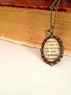 Sometimes you stumble across something, and you didn't even know your life was missing it, until you see it for the first time. Eponine and Marius from Les Miserables by AuthoredAdornments, $26.00