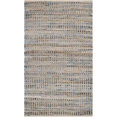 Safavieh Hand-Woven Cape Cod Natural / Blue Jute Rug (2' x 4') , Size 2' x 4'