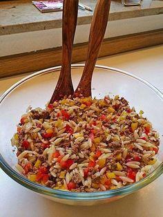 Kritharaki - Salat mit Hackfleisch, ein tolles Rezept aus der Kategorie Pasta & Nudel. Bewertungen: 391. Durchschnitt: Ø 4,6.