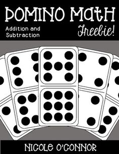Domino addition and subtraction printables! Have your students use dominoes to practice basic adding and subtracting! Dominoes are wonderful tools because students can count the dots to help them add and subtract!Please leave feedback! Enjoy!For more simple math practice, take a peek at my Mini Math Books!