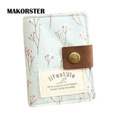 Cheap women passport cover, Buy Quality passport cover directly from China visa card holder Suppliers: MAKORSTER id card holder visa business card holder Cotton Fabric Cute Floral female credit gift card wallet women passport cover