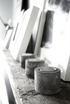 I.De.A: DIY: Concrete Candle Holders