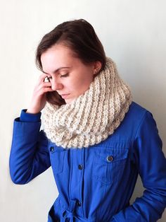 Сircle scarf, knitted oversized cowl snood, knitted women's cowl, bulky cowl snood by SanniKnitting on Etsy