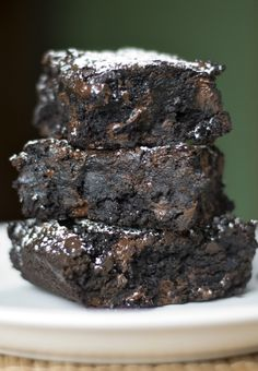 Good Ol' Homemade Brownies    This are absolutely wonderful.  I didn't notice until after I started them that it uses a 9x13 pan, so it also makes a lot more than lots of recipes I've used.  They are thick and gooey and make the best brownie a la mode.