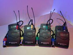 Sennheiser EK100 G3 Wireless Microphone systems for talent, wireless camera hops, or IFB.